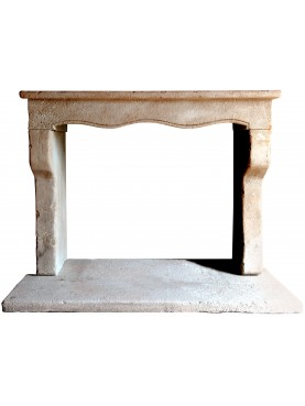 Marchisio French limestone fireplace