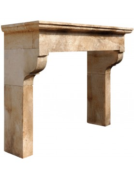 Mannucci Fireplace in limestone