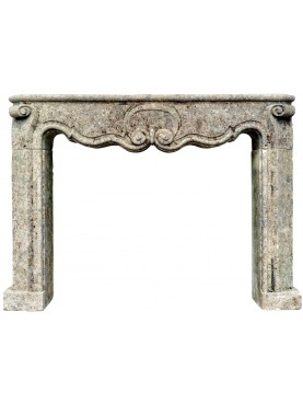 French fireplace in limestone