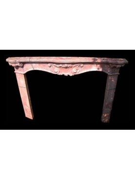 """Fireplace in"""" Occhio di Pernice"""" Marble"""