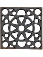 25x25cms Cast-iron Grid from STIBBERT Museum in Florence