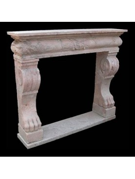 Fireplace in Red Verona marble