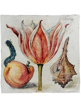 Tulipani, insetti e verme di Joris Hoefnagel