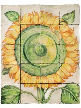 Pannello di maiolica GIRASOLE - U.Aldrovandi