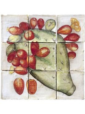 Majolica Panel prickly pear - U.Aldrovandi