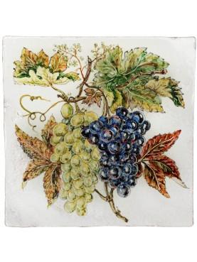 Piastrella di ns produzione con l'uva