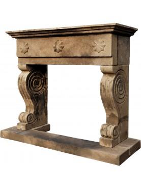 Zorzet fireplace, volcanic stone - Peperino 008