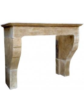 Limestone Fireplace from Borgogna