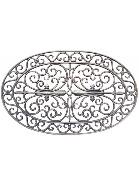 Oval cast iron doormat