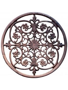 ROUND cast iron doormat