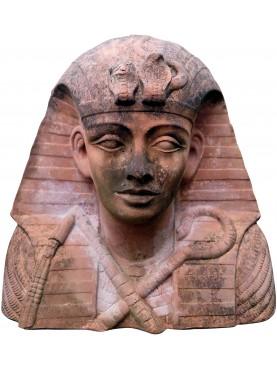 Busto di Tutankhamon in terracotta grande