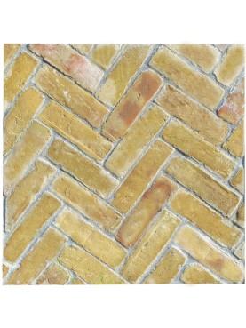 ancient cutted light bricks opus spigatum italian tuscany