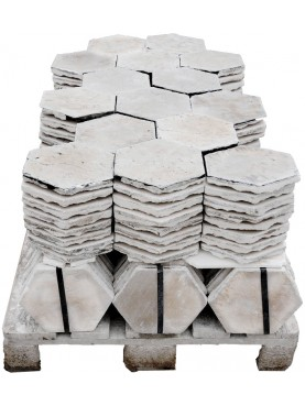 Esagoni in Pietra calcarea - pavimento esagonale