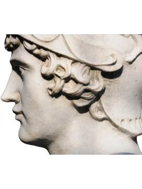 Alessandro Magno white Carrara marble bust