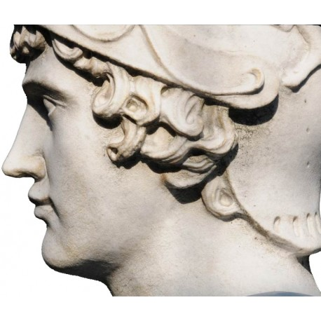 Alexander the Great in white Carrara marble