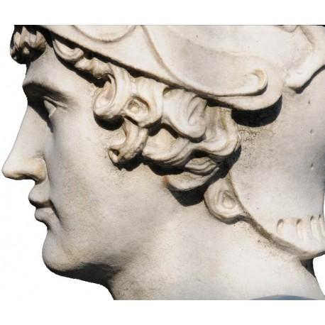 Alessandro Magno in marmo bianco di Carrara