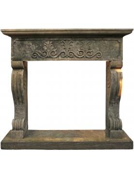 Mocchetti fireplace, volcanic stone