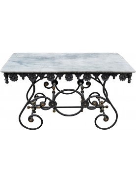 Franch butcher table cast-iron ONLY BASE