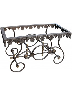Cast-iron Franch butcher table base