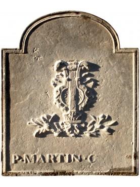 Lastra di camino in bronzo