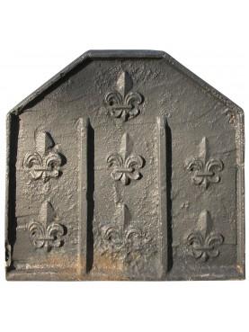 Lastra originale antica con sette gigli