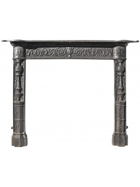 Cast iron fireplace