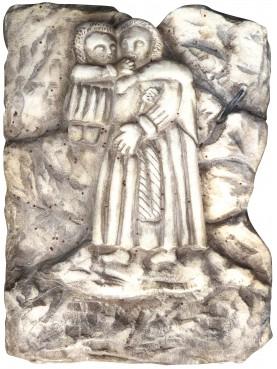 Sant'Antonio da Padova IMMAGINETTA IN MARMO BIANCO DI CARRARA
