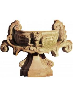 Tazza Navona vaso terracotta ornamentale romano napoletano