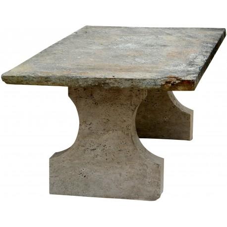 Tavolo in pietra da 150 a 230 cm di lunghezza originale antico ...