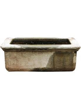 Riproduzione di grande Vasca da Giardino pietra arenaria grigia