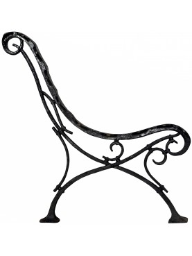 Ancient cast iron bench legs