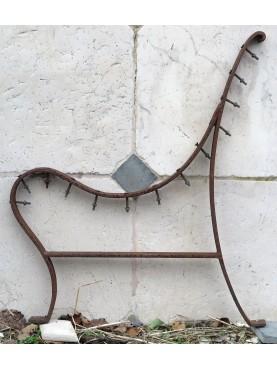 Minimalist iron legs for bench