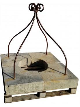 Pozzo quadrato con ferro a 4 bracci