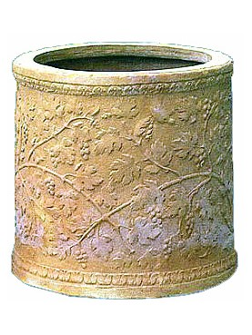 Pozzo in terracotta con motivi floreali - Impruneta