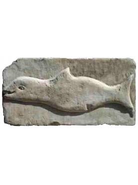 Medioeval stone dolphin - repro