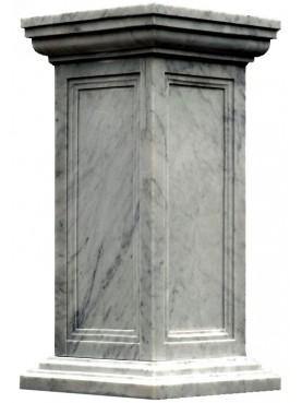 Base H.110cm/55x55cm in marmo bianco di Carrara