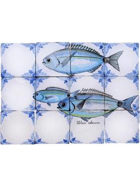 Pannello maiolica pesci occhiate