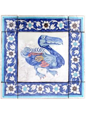 Tiled majolica panel of Dodo