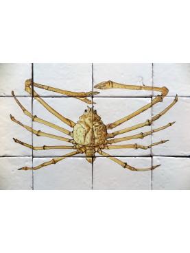 Spider Crab majolica panel