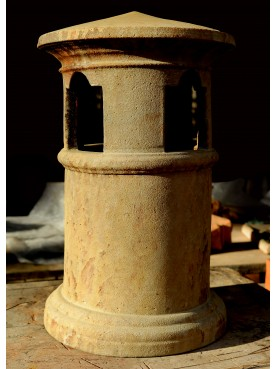 CHIMNEY POT from North Italy 20 cm diam. patinated
