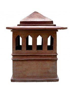 Very large tuscan chimney pot Øint.50cms in terracotta