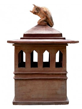 Very large tuscan chimney pot in terracotta