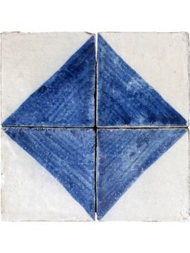 Piastrella di nostra produzione blu cobalto e ossido d'allumino