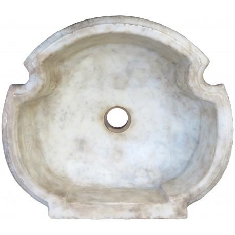 Lavandino trilobato in marmo