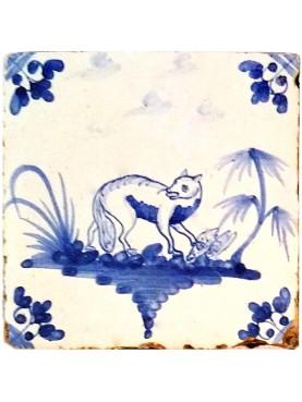 Delft Hannoversch majolica tiles - Fox
