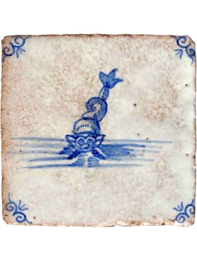 Delft Sea maiolica tile