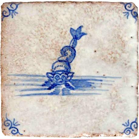 Piastrelle con scene marine di Delft