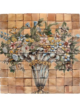 Flowers pot panel