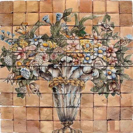 Pannello con vaso di fiori