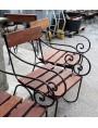 Poltrona in ferro battuto e legno